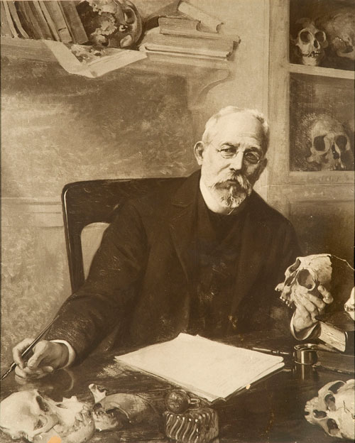 Retrato de Ameghino de Luis De Servi (1863-1945).
