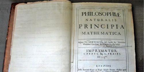 Philosophiæ naturalis principia mathematica, de Isaac Newton.